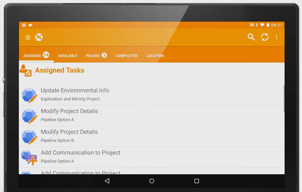 Field service software management UI